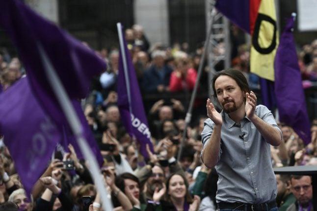 Spain's crisis-hit Podemos launches election campaign