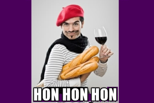 Why do people think the French say 'hon hon hon' when they laugh?