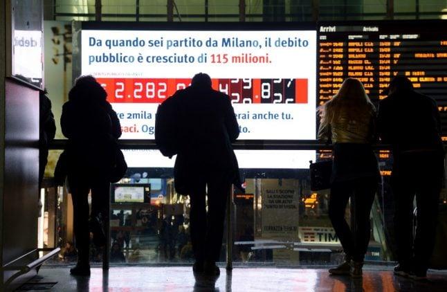 EU warns Italy over its soaring debt