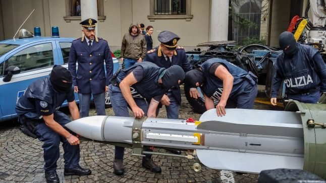Swiss man arrested as Italian police seize 'combat ready' missile during anti-terror raids