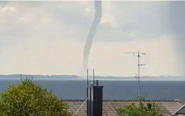 IN PICTURES: Mini tornado spotted off the coast of southern Sweden