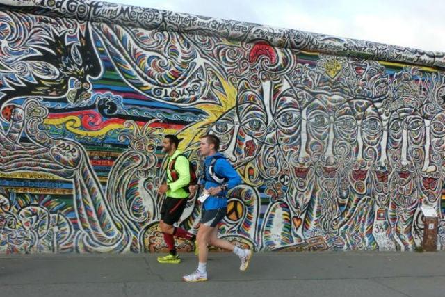 Runners brave 160km marathon to mark fall of Berlin Wall