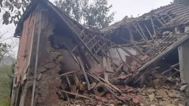Storms: Italian couple escape from landslide 'thanks to their cats'