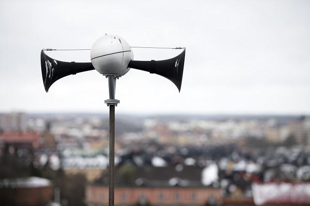 Why did Sweden's public warning siren sound last night?