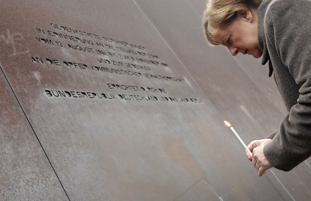 Berlin Wall 'reminds us to defend democracy': Merkel
