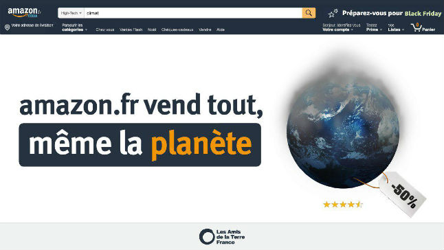 French groups plan to protest 'unsustainable' Amazon on Black Friday