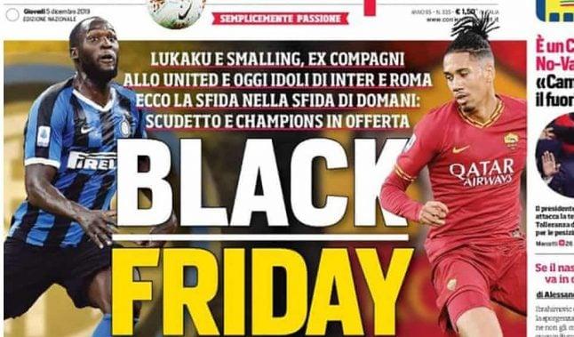 Italian newspaper defends 'Black Friday' headline on footballers Lukaku and Smalling