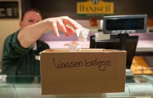 German shops chaff against 'wasteful' receipt law