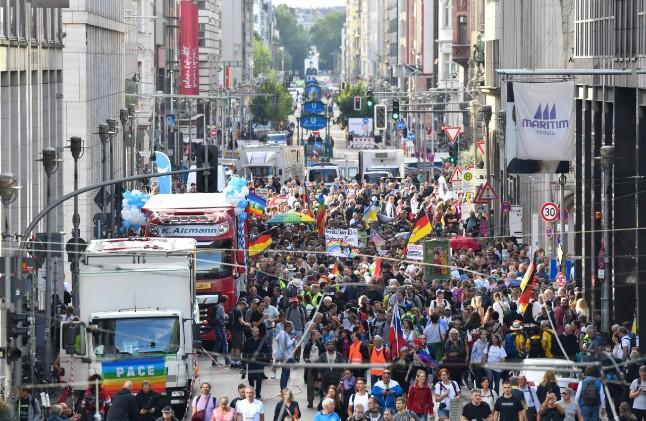 'Anti-coronavirus' demonstration takes place in Berlin
