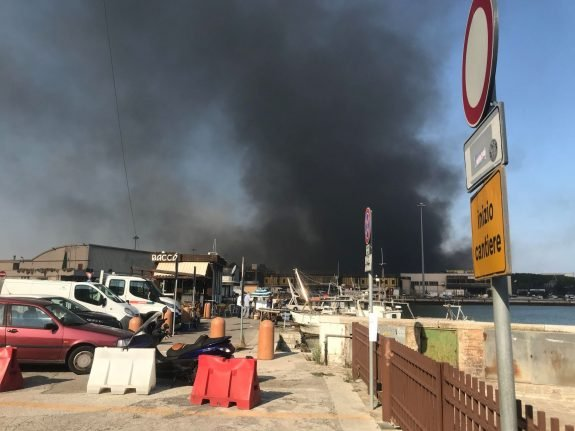 Explosion and fire rips through Italian port of Ancona overnight