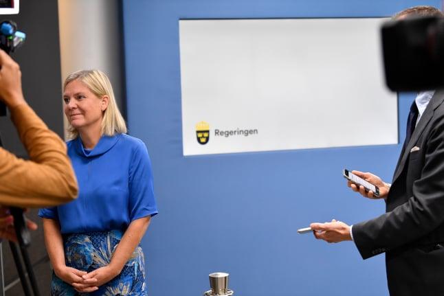 Swedish finance minister unveils 'historic' coronavirus budget bill