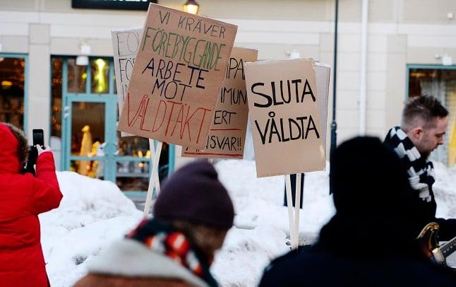 How do Sweden's rape statistics compare to Europe?