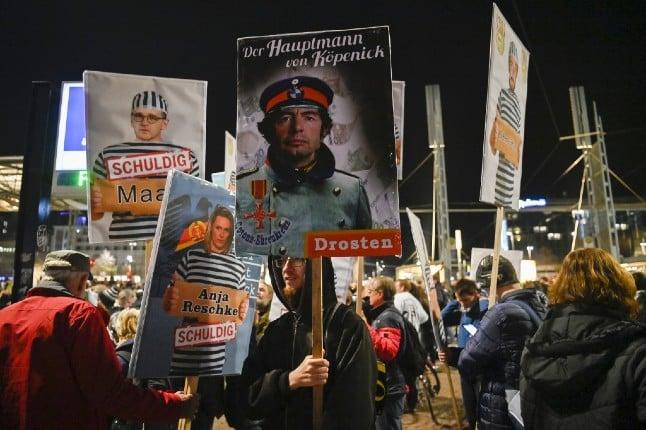 Coronavirus protesters attack police in Leipzig