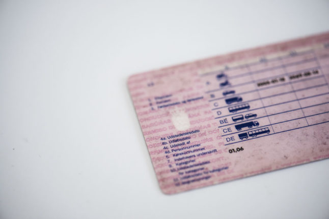 What are the current rules for UK driving licence holders in Denmark?
