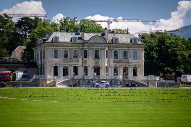 Historic Swiss lakeside villa spruced up for Biden-Putin talks