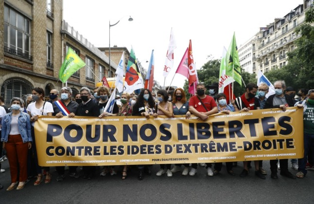 Tens of thousands march against far-right in France