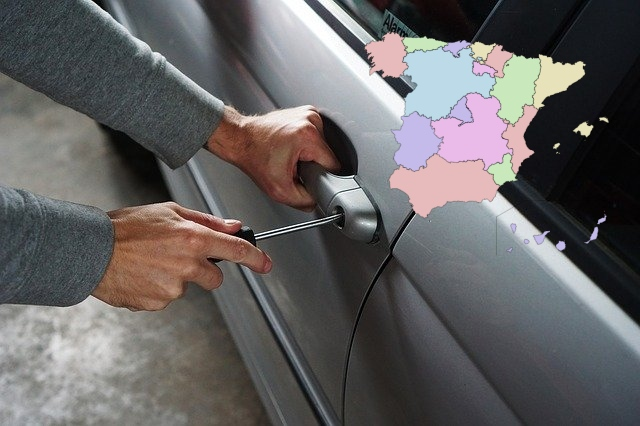 Where are you most likely to have your car stolen in Spain and which models are thieves after?