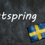 Swedish word of the day: utspring