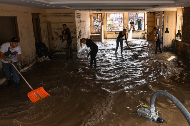 'We have to keep going': German spa town begins mammoth flood clean-up effort