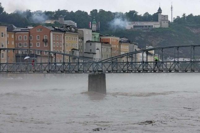 Flooding causes chaos across Austria