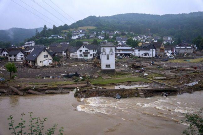 Merkel to visit flood-ravaged western Germany on Sunday