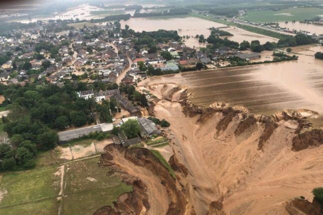 German floods: Several feared dead after landslide south of Cologne
