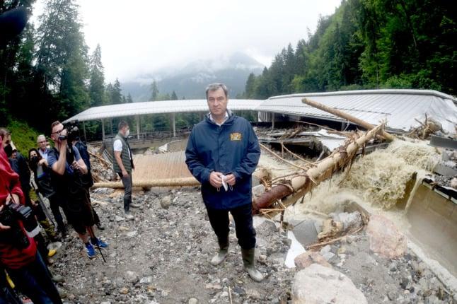 Clean-up underway in Bavaria after heavy floods wreak havoc