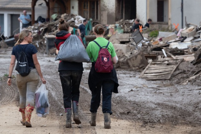 Germany fears Covid outbreaks in flood-hit communities