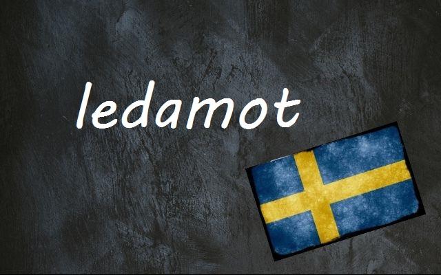 Swedish word of the day: ledamot