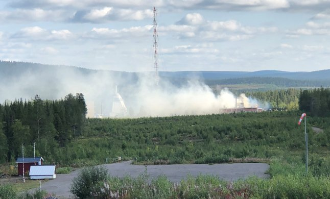 Fire tears through northern Swedish space research centre