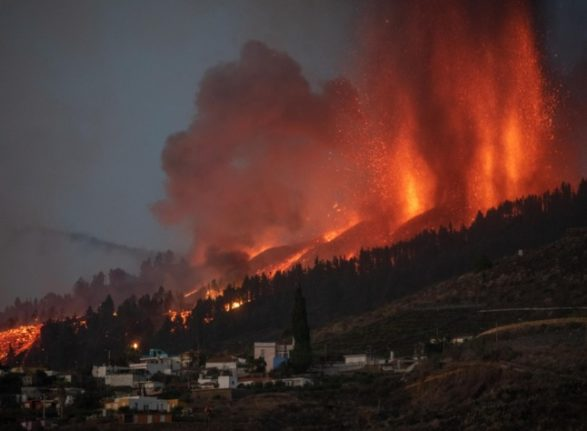 How often do volcanic eruptions happen in Spain and the Canary Islands?