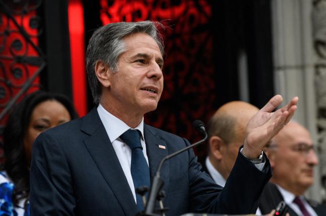 What is on the agenda for US Secretary of State AntonyBlinken in Paris?
