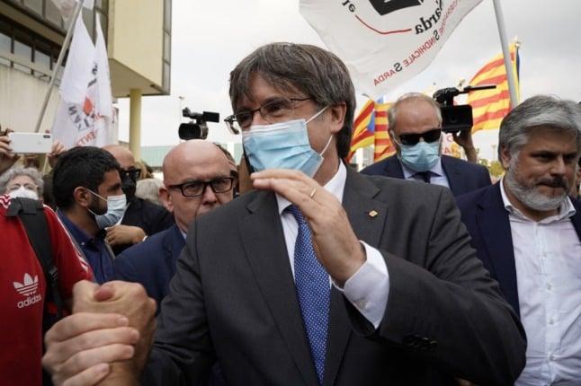Italy court suspends ex-Catalan leader case pending EU ruling