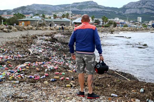 IN PICTURES: How floods and a bin strike left Marseille submerged in waste