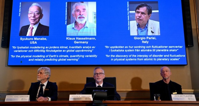 Italy's Giorgio Parisi among winners of Nobel Prize for Physics