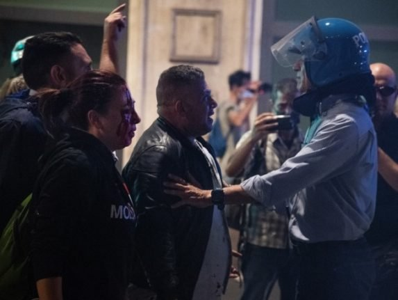Italian far-right group leaders arrested after violent clashes in Rome