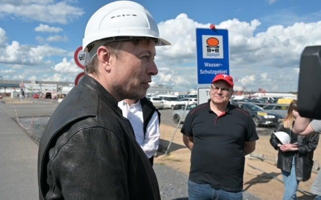 Tesla holds 'Giga Fest' at disputed German e-car factory