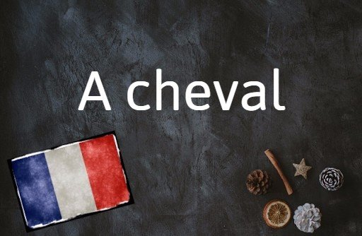 French phrase of the day: A cheval