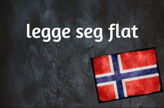 Norwegian expression of the day: Legge seg flat